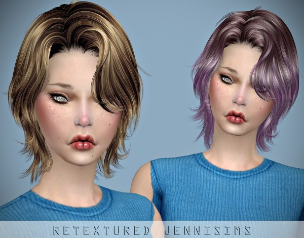 Jenni Sims: Newsea`s Unchained Hair retextured for Sims 4