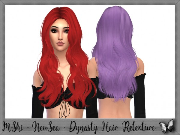 Mikerashi: Newsea`s Dynasty​ Hair retextured for Sims 4