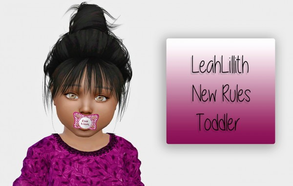 Simiracle: LeahLillith`s New Rules hair retextured for toddlers for Sims 4