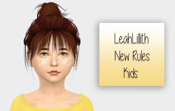 Simiracle: LeahLillith`s New Rules hair retextured for girls for Sims 4