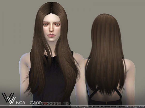 The Sims Resource: WINGS OS1015 hair for Sims 4