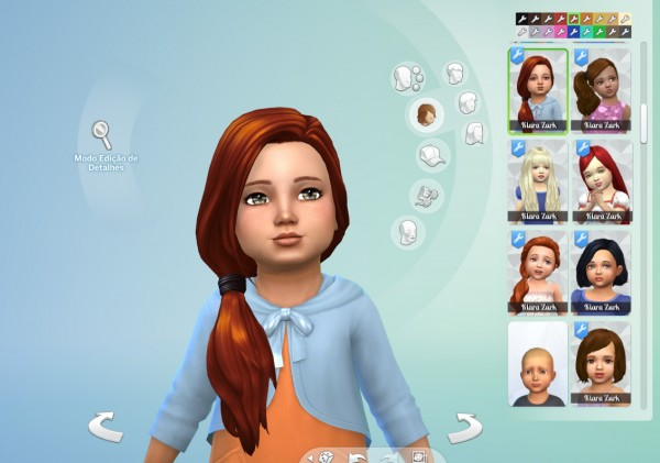 Mystufforigin: Side Pony Hairstyle for Toddlers for Sims 4