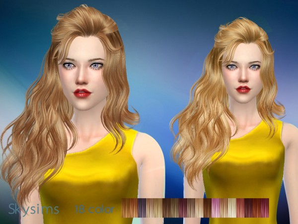 Butterflysims: Hair 087 by Skysims for Sims 4