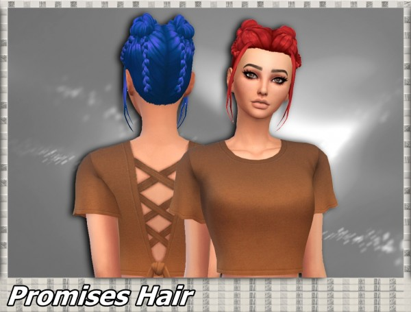Mikerashi: Promises Hair for Sims 4