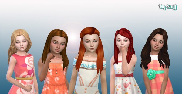 Mystufforigin: Girls Long Hair Pack 12 for Sims 4