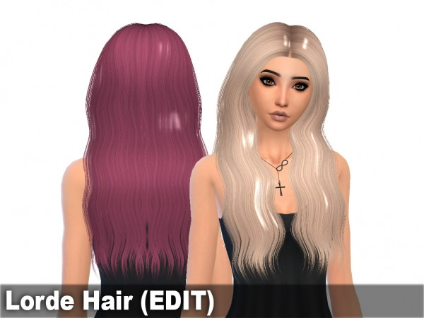 Mikerashi: Lorde hair retextured for Sims 4