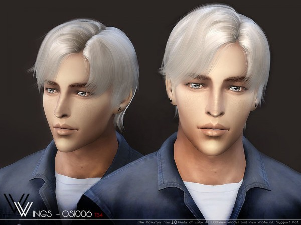 The Sims Resource: WINGS OS1006 hair for Sims 4