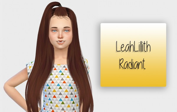 Simiracle: LeahLillith`s Radiant hair for girls for Sims 4