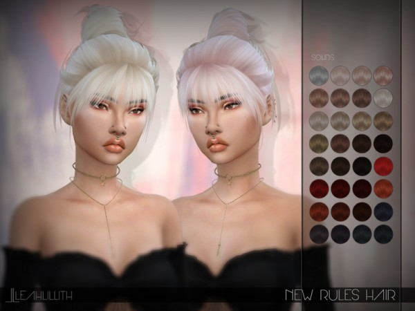 The Sims Resource: New Rules Hair by LeahLillith for Sims 4