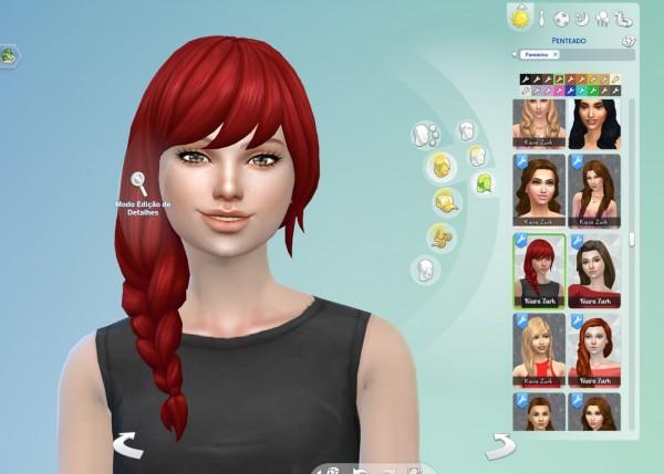 Mystufforigin: Braid Fishtail Side hair retextured for Sims 4
