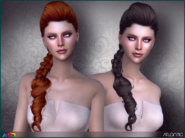 The Sims Resource: Atlantic Hair by Anto for Sims 4