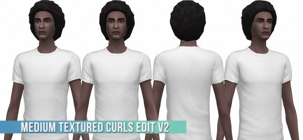 Busted Pixels: Wavy hair retextured for Sims 4