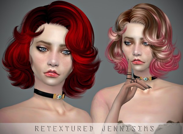 Jenni Sims: Newsea`s ​New Vegas Hair retextured for Sims 4