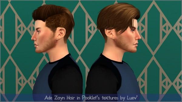 Mertiuza: Ade Darma`s Zayn hair retextured for Sims 4