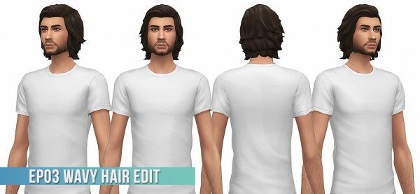 Busted Pixels: Wavy Hair Edit for Sims 4