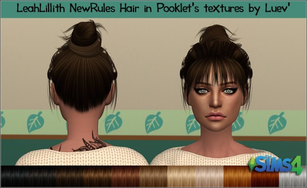Mertiuza: Leahlillith`s New rules hair retextured for Sims 4
