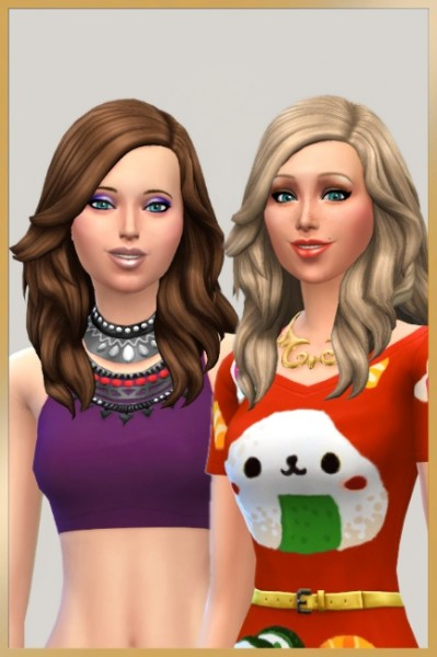 Blackys Sims 4 Zoo: Lara hair recolored by Cappu for Sims 4