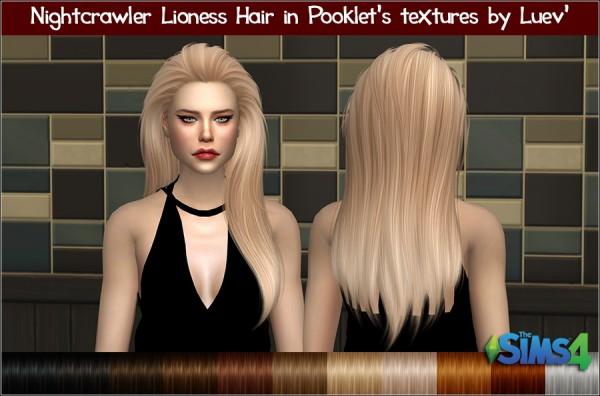 Mertiuza: Nightcrawle`s Lioness hair retextured for Sims 4