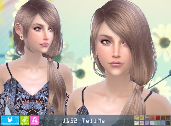 NewSea: J152 Tell Me hair for Sims 4