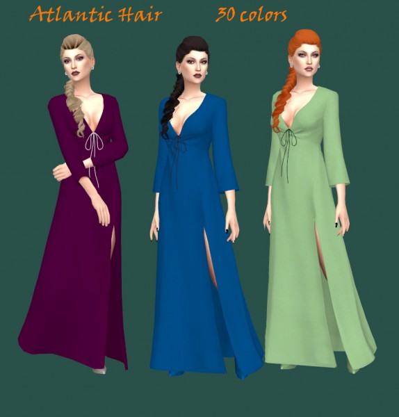 Sims Fun Stuff: Ade's Tay and Anto`s Atlantic hairs retextured for Sims 4