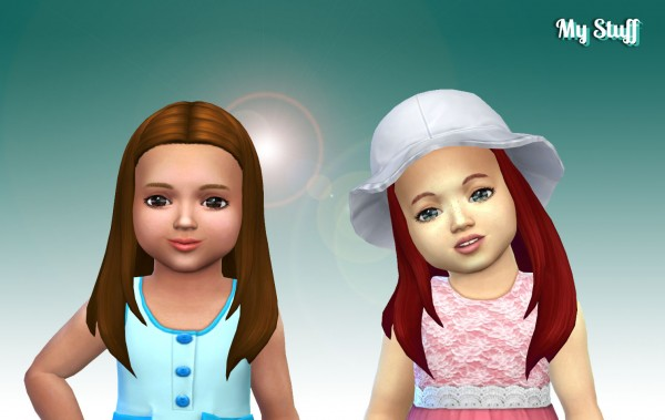 Mystufforigin: Rebecca Hair retextured for toddlers for Sims 4