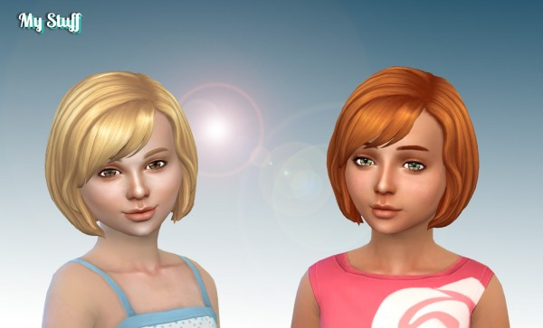 Mystufforigin: Layla Hairs retextured for Girls for Sims 4