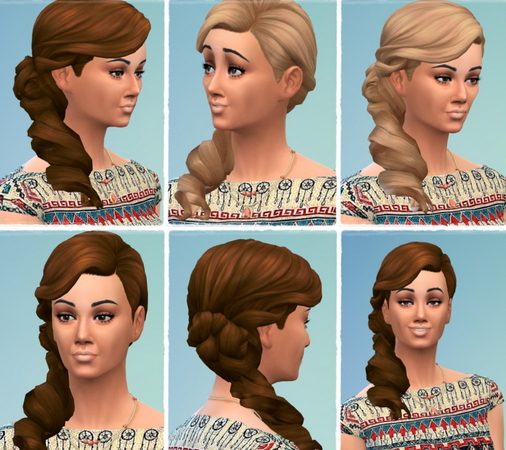Birksches sims blog: Linda's Rollin Tail hair for Sims 4