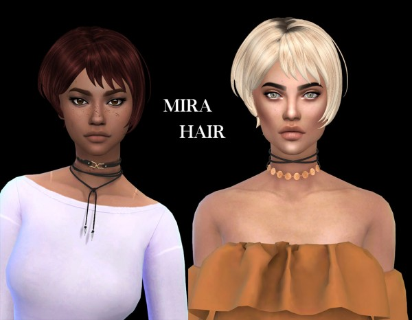 Leo 4 Sims: Mira hair recolored for Sims 4