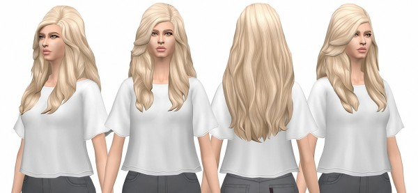 Busted Pixels: Long Soft Wavy hair retextured for Sims 4