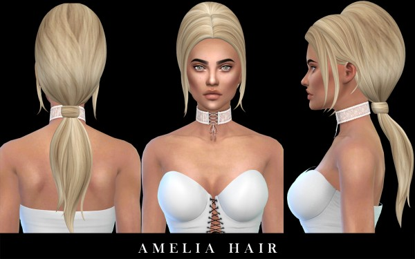 Leo 4 Sims: Amelia hair recolored for Sims 4