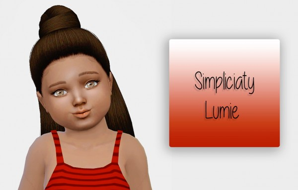 Simiracle: Simpliciaty`s Lumie hair retextured for Sims 4