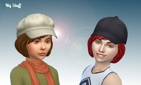 Mystufforigin: Layla Hairs retextured for Girls for Sims 4