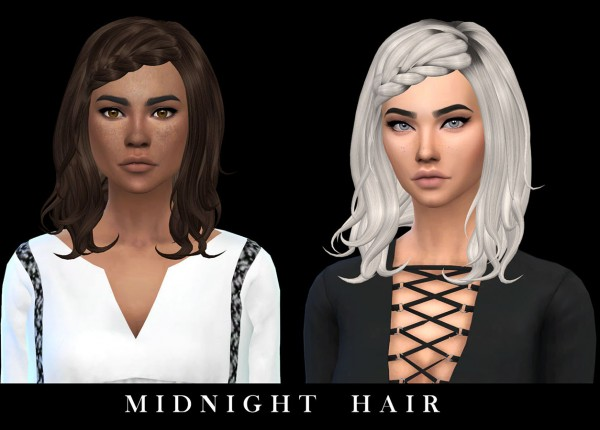 Leo 4 Sims: Midnight Hair recolored for Sims 4
