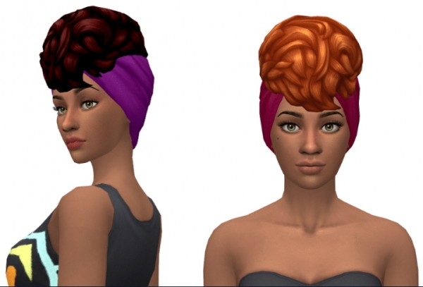 Simsworkshop: Curls on Top v2 hair  leeleesims1 for Sims 4