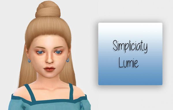 Simiracle: Simpliciaty`s Lumie hair retextured for girls for Sims 4