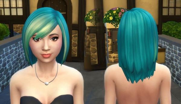 Mystufforigin: Louise Hair retextured for Sims 4