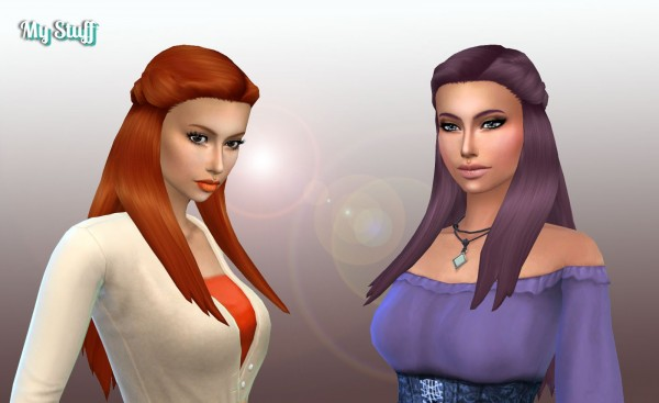 Mystufforigin: Małgorzata hair retextured for Sims 4