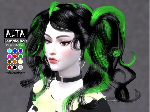 The Sims Resource: AITA hair retextured by Helsoseira for Sims 4