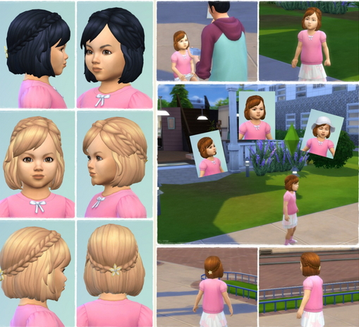 Birksches sims blog: Baby Braid Hair for Sims 4