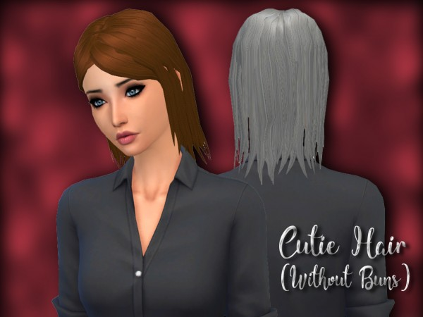 Mikerashi: Cutie Without Buns hair retextured for Sims 4