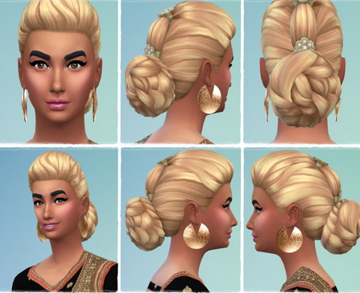Birksches sims blog: Indian hair retextured for Sims 4