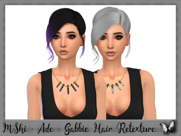 The Sims Resource: Ade Darma`s Gabbie Hair Retextured by mikerashi for Sims 4