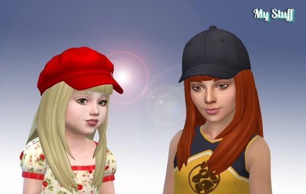Mystufforigin: Bangs Hair retextured for Sims 4