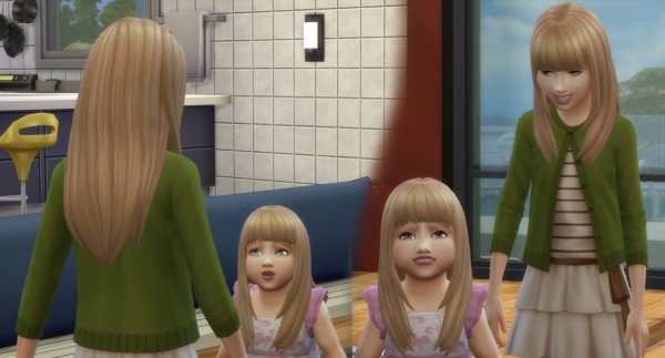 Mystufforigin: Bangs Hair retextured for Sims 4
