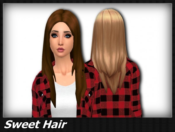 Mikerashi: Sweet hair for Sims 4