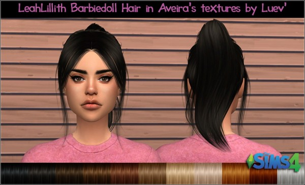 Mertiuza: LeahLillith`s Barbiegirl Hair Retextured for Sims 4