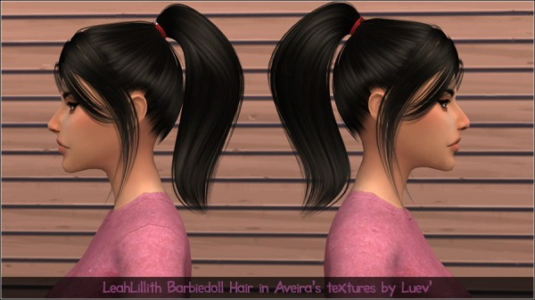Mertiuza: LeahLillith`s Barbiegirl Hair Retextured for Sims 4