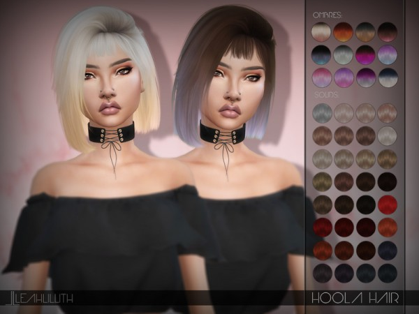 The Sims Resource: Hoola Hair by LeahLillith for Sims 4