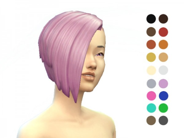 The Sims Resource: Half Shaven Hair retextured by ladyfancyfeast for Sims 4