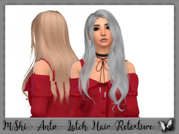 The Sims Resource: Anto`s Latch Hair Retextured by Mikerashi for Sims 4